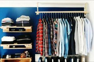 Begehbarer Kleiderschrank Oder Regalsystem Upcycling Kleiderschrank Billig Paletten Kleiderschrank Begehbarer Kleiderschrank