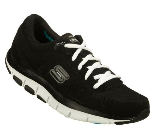 Skechers Shape Ups Liv Fearless Womens Sneakers Black/White 8.5. Details at  http: