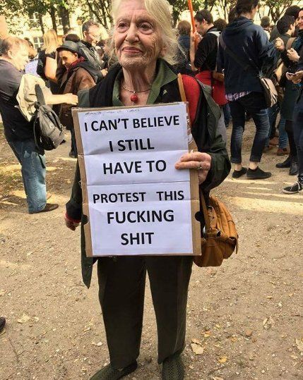 Viral Photo Of Woman's Abortion Protest Sign Will Make You Laugh Then Cry