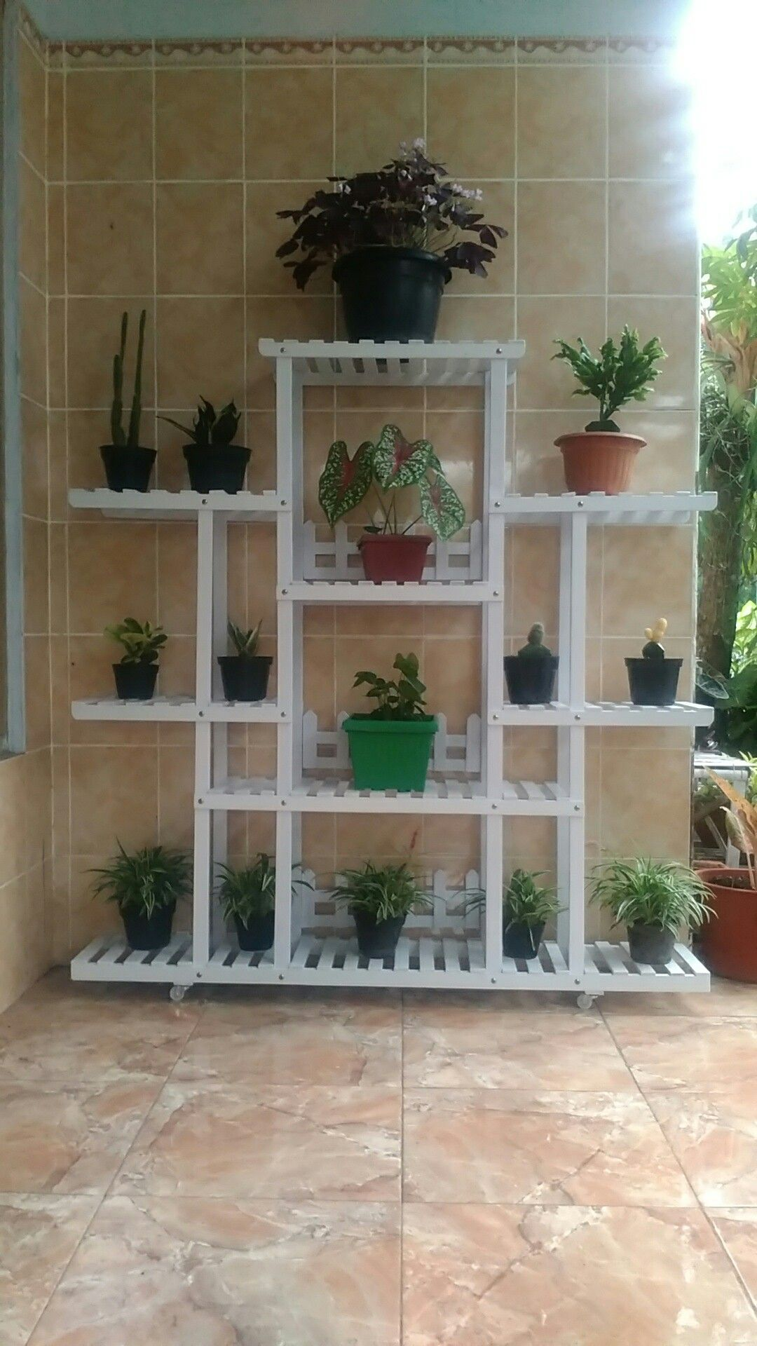 """39/""""x25/"""" Wood 3 Tier Folding Bookcase Stand Shelf Plant Picture Display Ladder"""