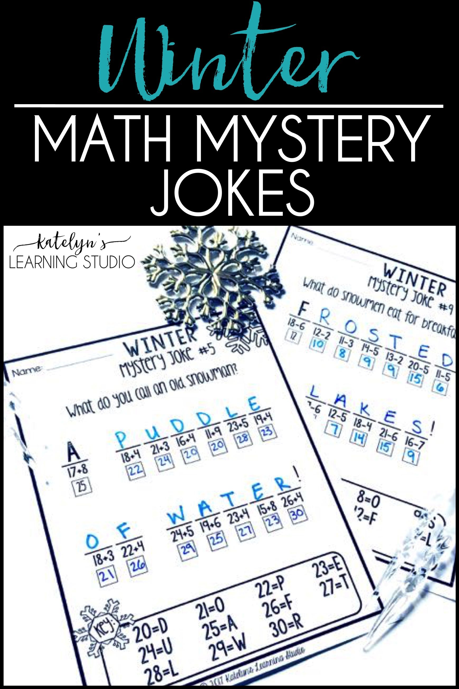 Winter Math Worksheets | Subtraction worksheets, Fun math and Math ...