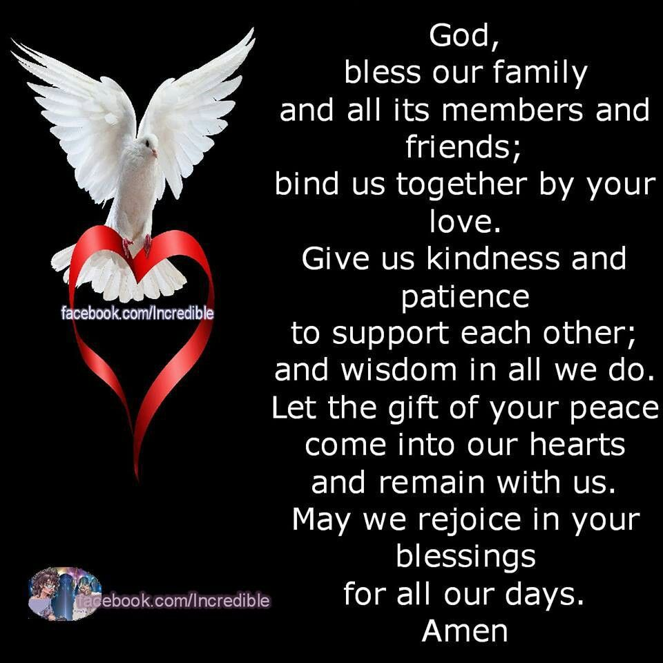 God Quotes And Sayings: Bless Our Family God Amen