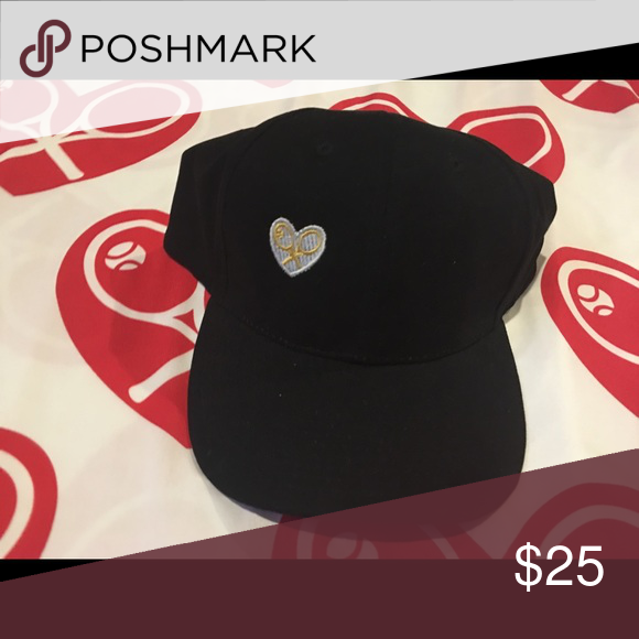 Sporty Black Hat With Ilmdp Logo Soft And Sporty This Jet Black Hat Has An Adjustable Back Is Great For Running Around Or Playing Tennis On Sporty Hats Black