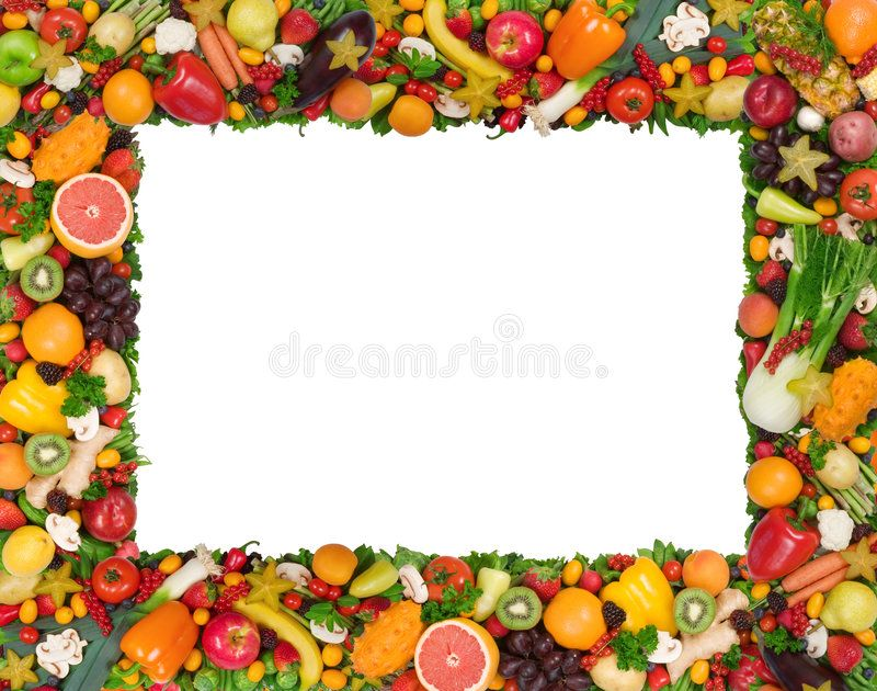 Fruit And Vegetable Frame Isolated On White Background Affiliate Frame Vegetable Frui Fruits And Vegetables Pictures Vegetable Pictures Fruits Images
