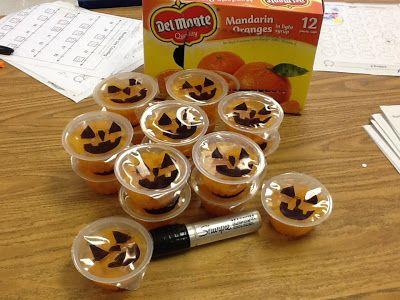 Healthy Halloween Treats for Kids - school parties or trick or treat - halloween treat ideas for school parties