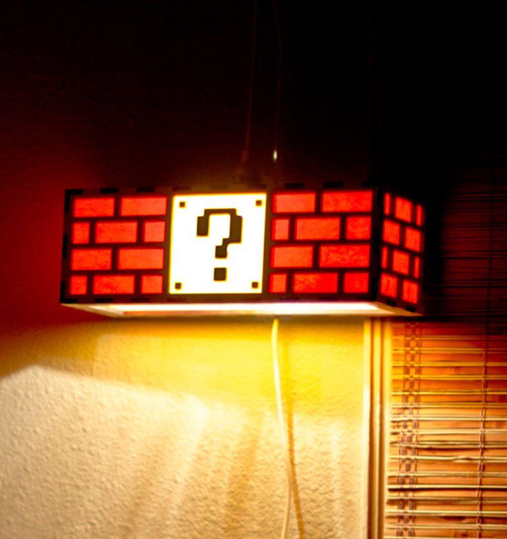 Super Mario Block Lamp Legos In 2019 Video Game Bedroom Mario