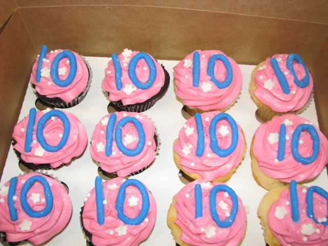 10th Birthday Cupcakes Cute For A Class Treat