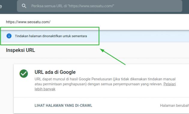 Cara Index Url Disaat Webmaster Dinonaktifkan Sementara Publik Buku 14 Oktober