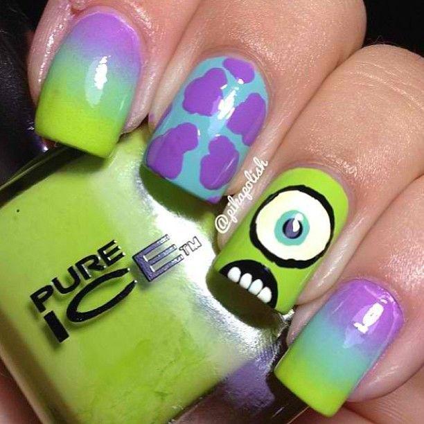 Monsters Inc | Nail Art | Pinterest