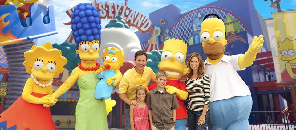 Universal Studios Hollywood Springfield Simpsons