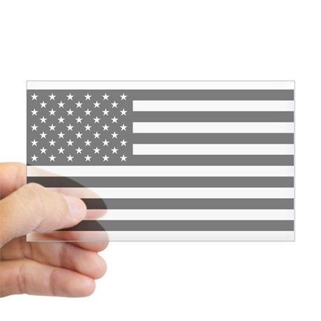 7cc8f61648ea U.S. Flag  Black Sticker (Rectangle) on CafePress.com