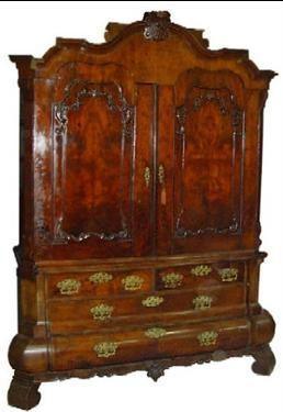 Wortelnoten Kabinet Met Geheime Laden Ca 1740 Muebles Antiguos Muebles
