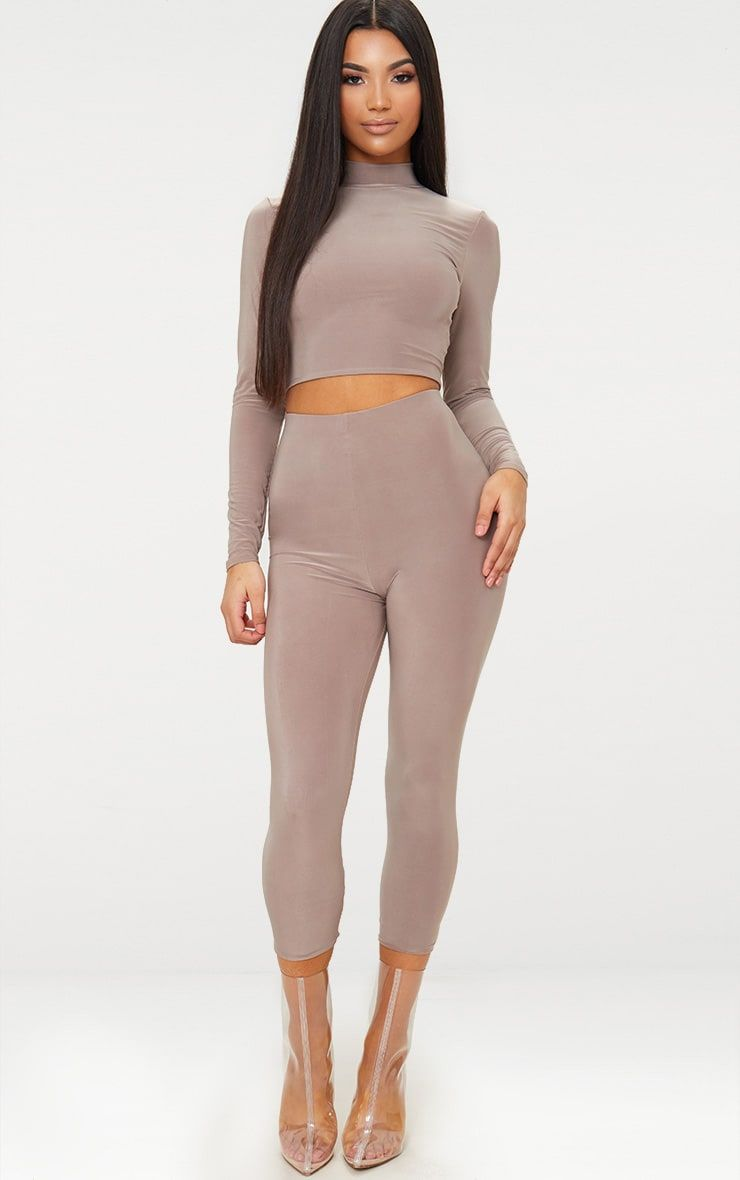 PRETTYLITTLETHING Maroon Second Skin Slinky Cropped Legging Choice For Sale Geniue Stockist For Sale Buy Cheap Best Prices ONovtZQrn