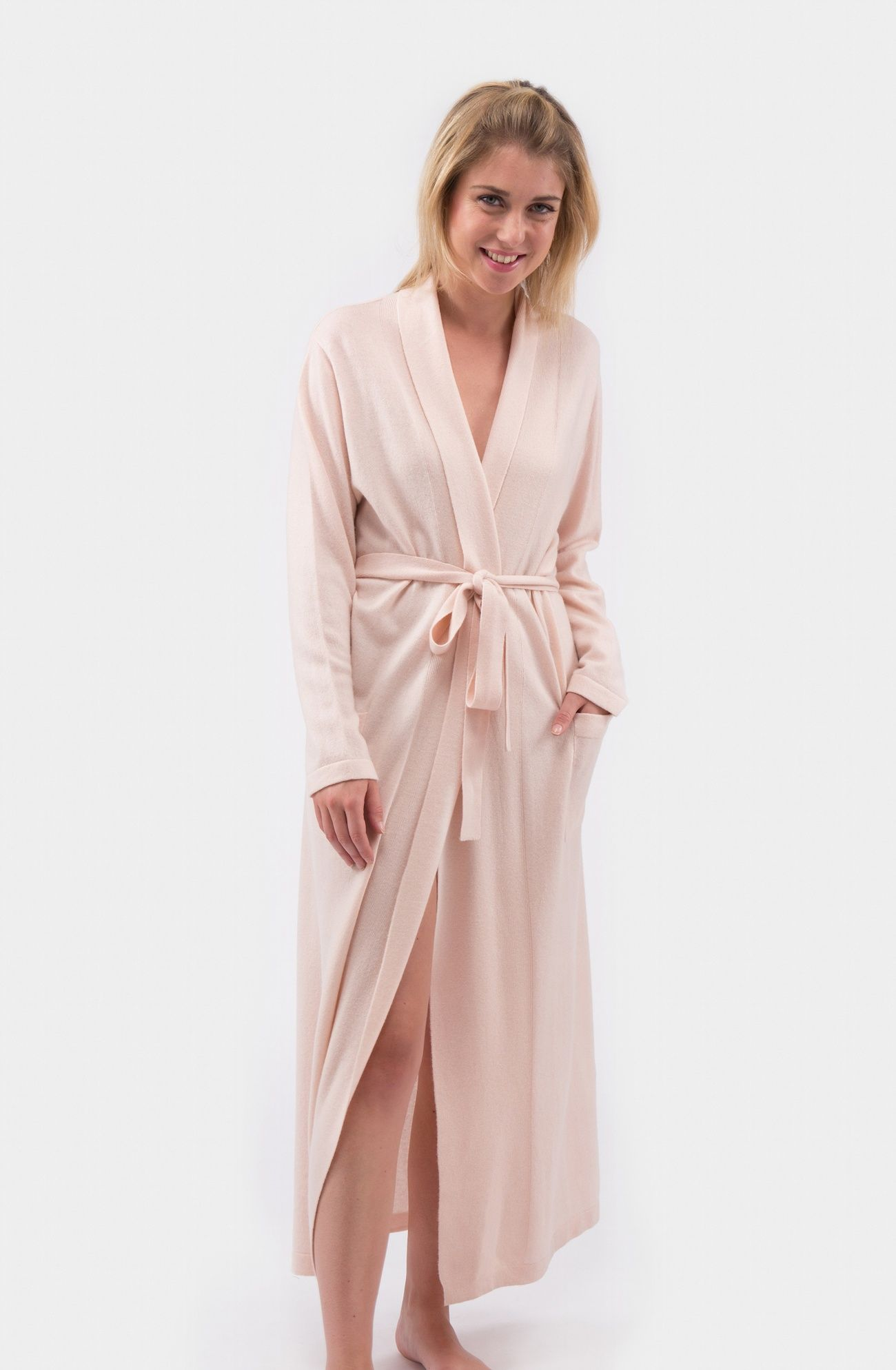 Cashmere and Wool Long Kimono Dressing Gown in Many Colours ...