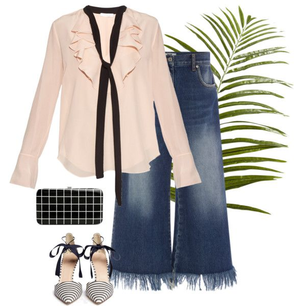 Street Style look by stylekaris on Polyvore featuring Chloé, MSGM, J.Crew, Merona and Pier 1 Imports