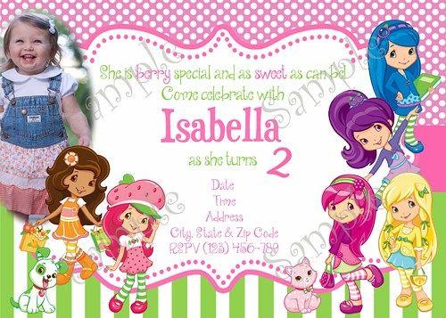 Strawberry shortcake birthday party invitation free thank you card strawberry shortcake birthday party invitation free thank you card filmwisefo