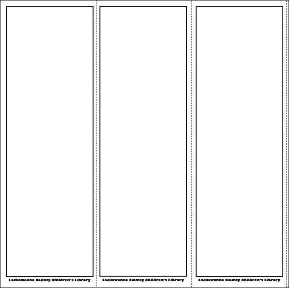 Blank Bookmark Template Pinteres