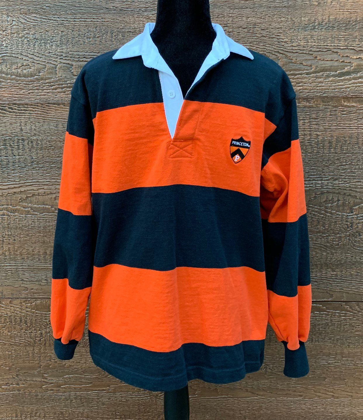 Princeton University Vintage80s Orange Black Striped Rugby Shirt Men S Medium Https Etsy Me 2mhvbqr Clothing Navy Striped Shirt Mens Shirts Rugby Shirt