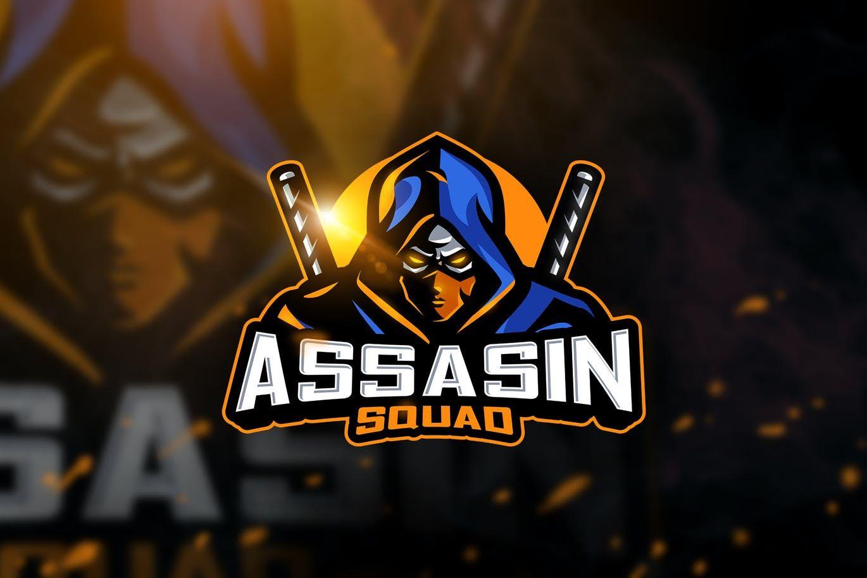 assasin squad mascot esport logo template ai eps logo