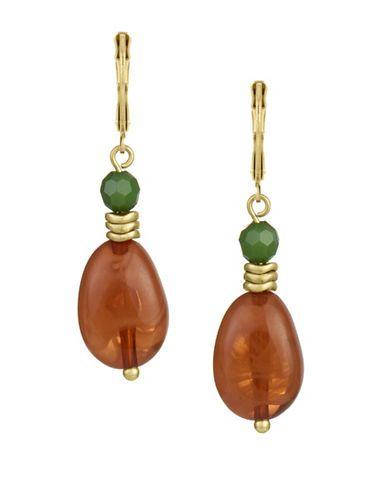The Sak Carnelian Stone Drop Earrings Women's Multi