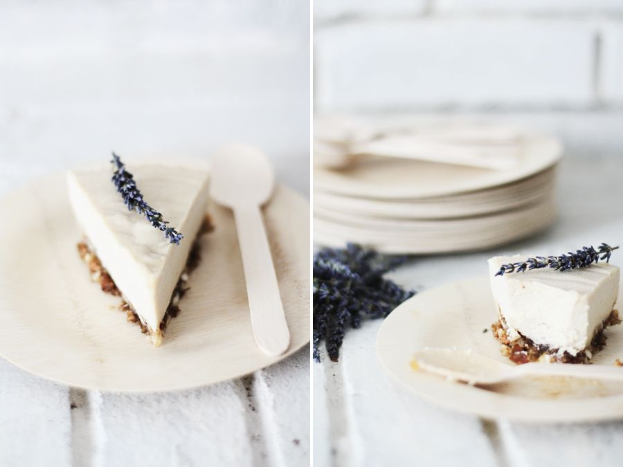 "Raw Lavender + Honey ""Cheese"" Cake - an unusual (and beautiful) idea for wedding cake."