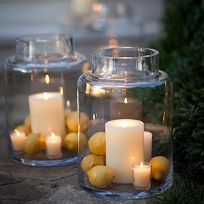 I Like These Hurricane Terrarium Jars From Crate Barrel I Would Put Other Things In Them Though Candles Decor Crates