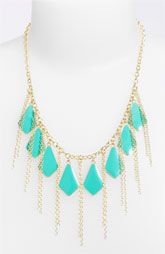 Carole Enameled Bauble & Chain Statement Necklace
