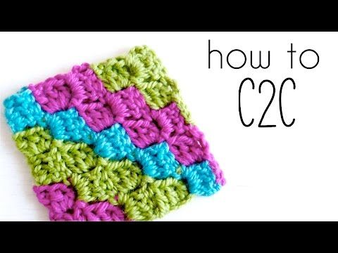 How To Crochet C2c Corner To Corner Tutorial Pinterest Corner