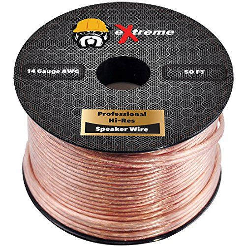 Extreme Speaker Wire 14awg 2conductor Stranded Cable 50 Feet Clear Visit The Image Link More Details With Images Speaker Wire Speaker