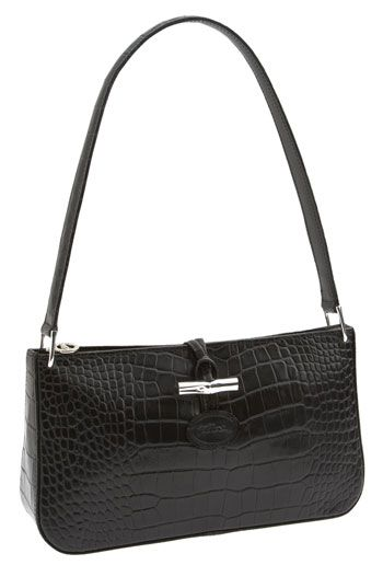Longchamp Roseau Croco Small Shoulder Bag Available At