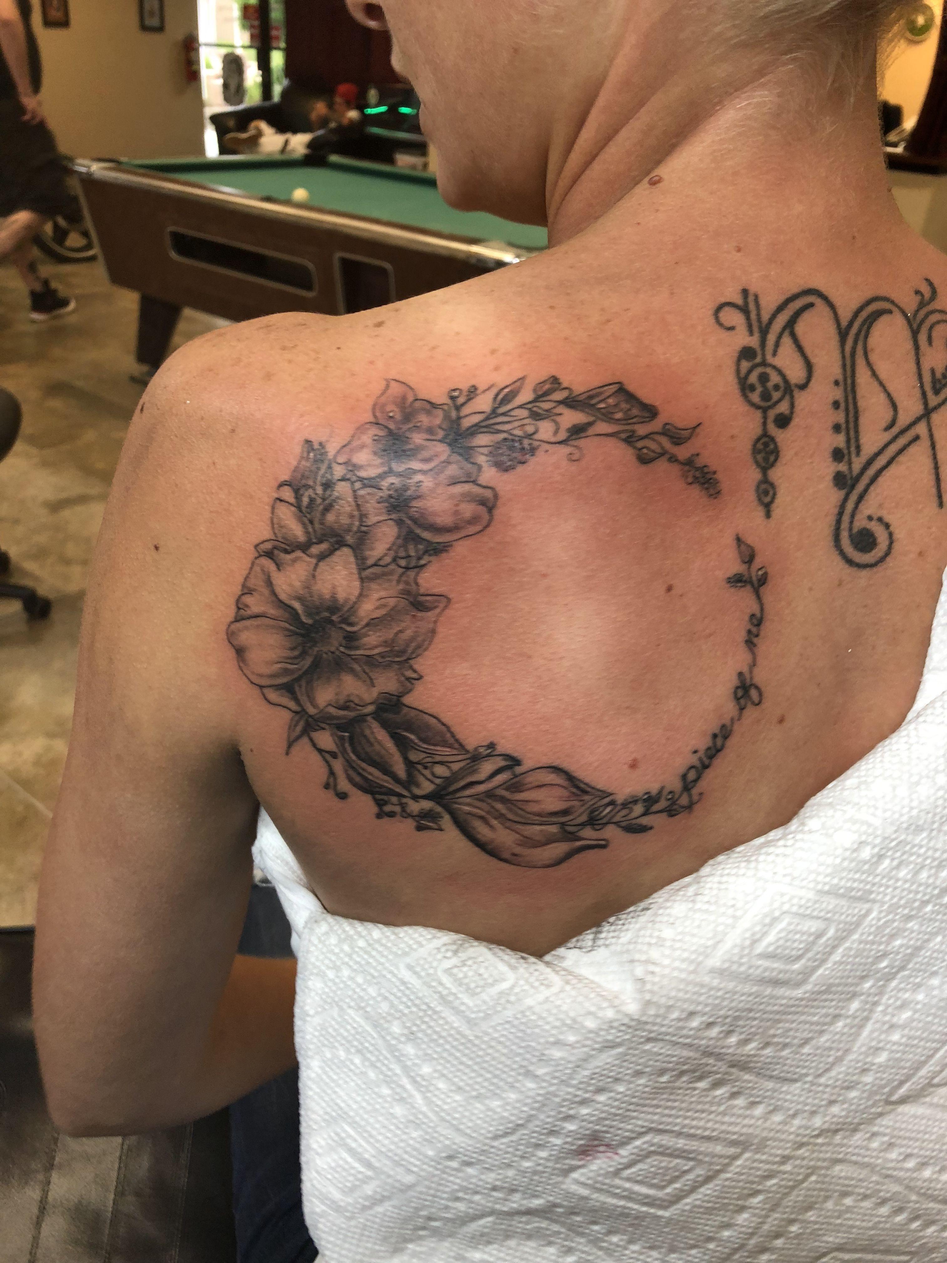Flower moon design tattoos flower tattoo moon design
