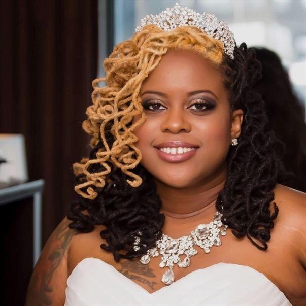 Wedding Day Hairstyles: My Locs On My Wedding Day! #locstyles #curlylocs #locs