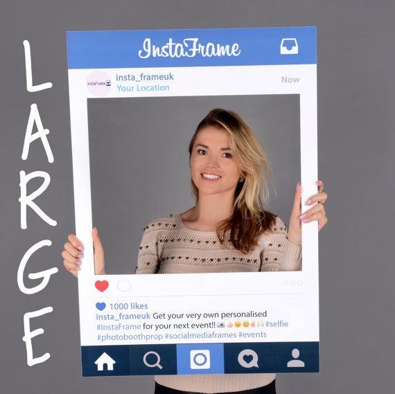 medium Personalised Instagram style photo booth prop