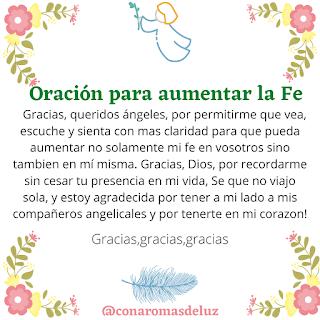 El Blog De Rita Con Aromas De Luz Oracion Para Aumentar La Fe Oraciones Oraciones Catolicas Oraciones Poderosas