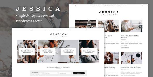 Jessica - Simple & Elegant Personal WordPress Theme | Pinterest