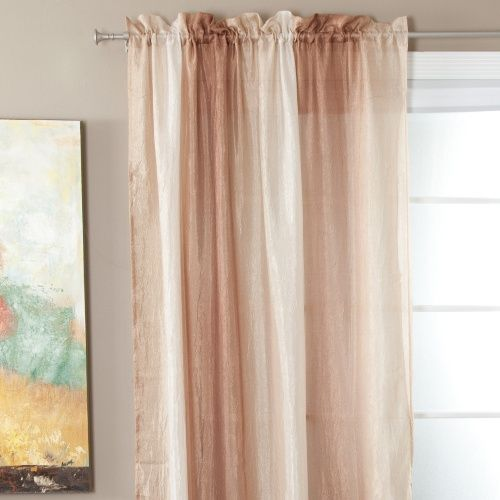 2399 Sandsrine Or Sage Ombres Chim Ombre Tailored Rod Pocket Curtain Panel