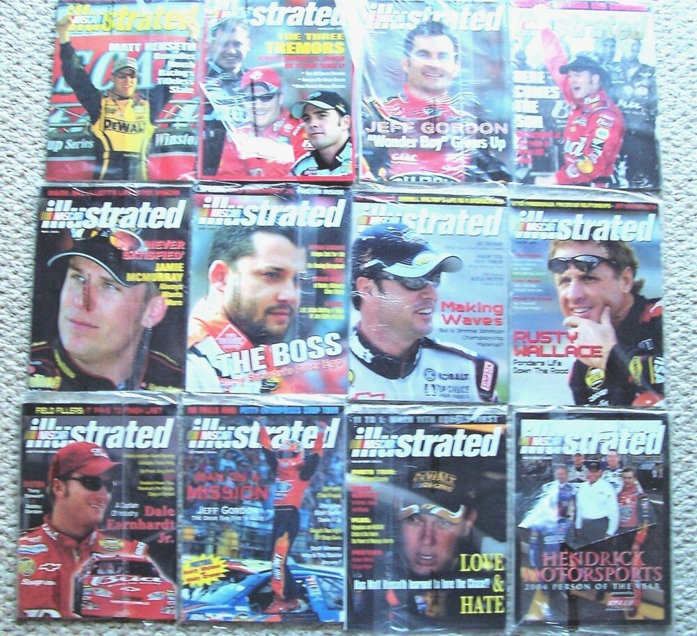 2004 Year of NASCAR Illustrated Magazines 12 Issues in