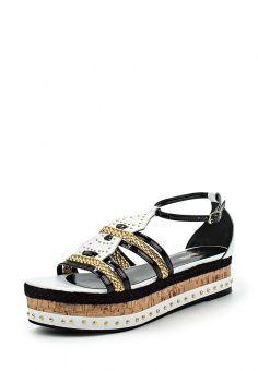 Сандалии Just Cavalli, цвет: мультиколор. Артикул: JU662AWGZF57. Женская обувь / Сандалии