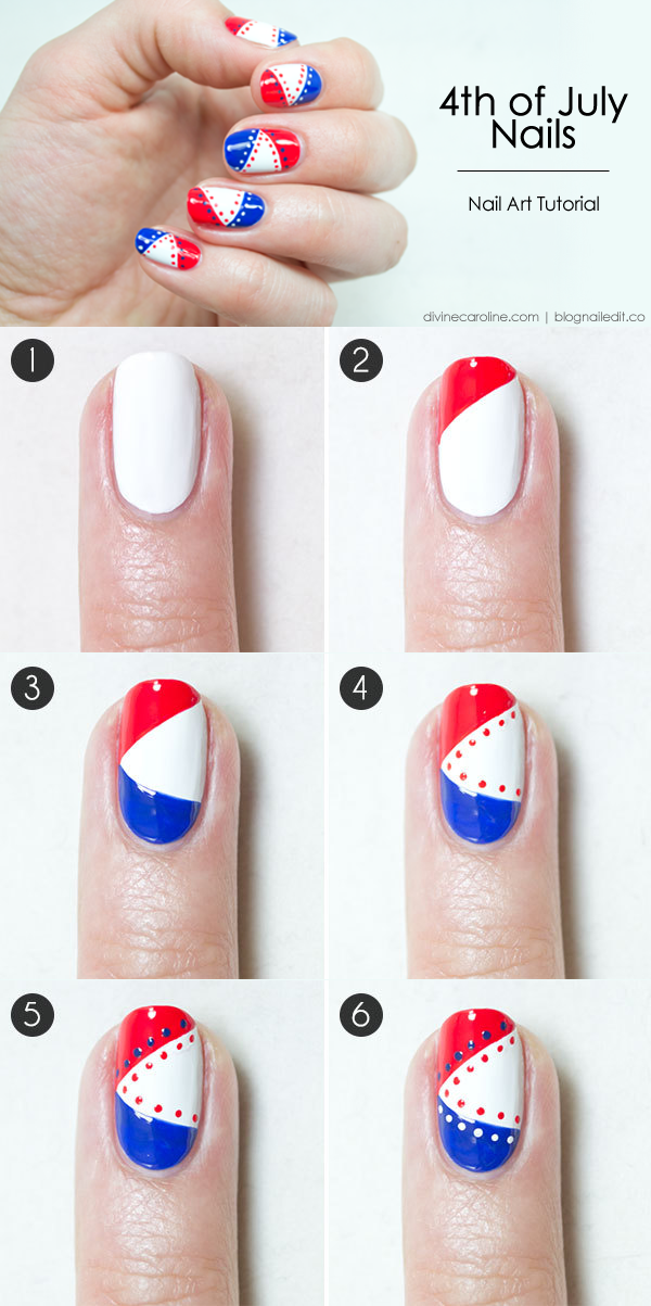 4th Of July Nails Rock This Patriotic Mani More July Nails 4th Of July Nails Nail Art Tutorial