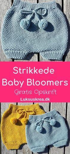 Strikkede Baby Bloomers – Luksuskrea – Hækling og strik #gratisstrikkeopskrifter