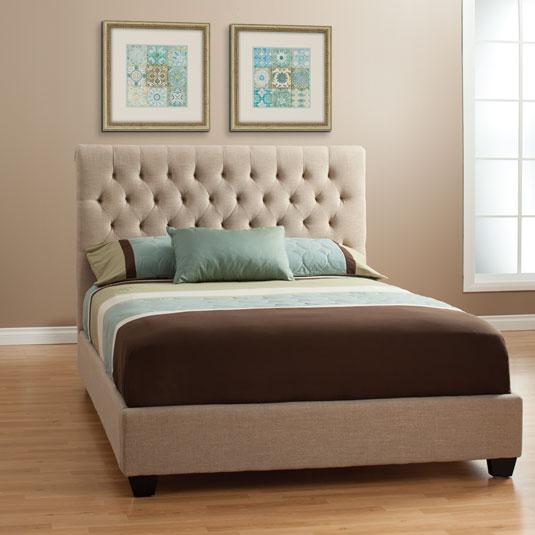 Chloe Bed-Tan in 14  Furniture, Jerome furniture, Bedroom