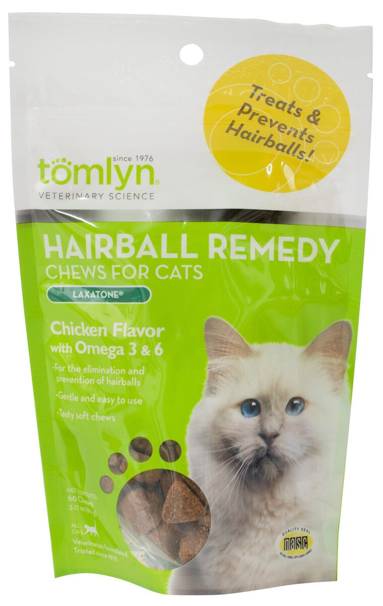 Laxatone Hairball Remedy Chews for Cats Chicken Liver 60