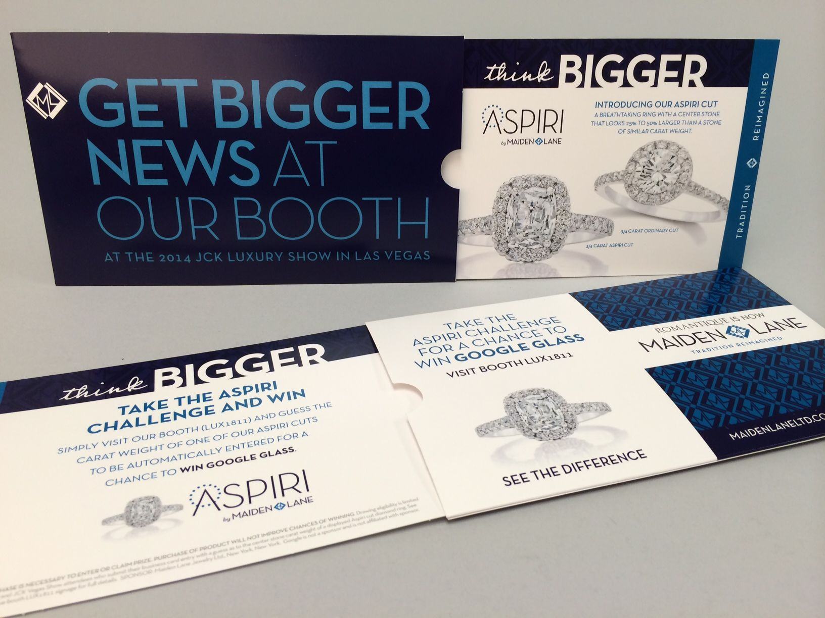 Maiden Lane Aspiri Trade Show Invitation Creative Direct Mail