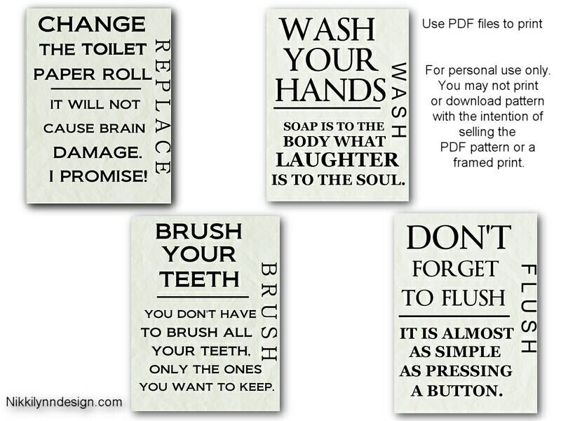 Picture Navigation Menu Bathroom Printables Bathroom Wall Art