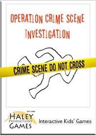 Crime scene investigation game for kids. This creative ...