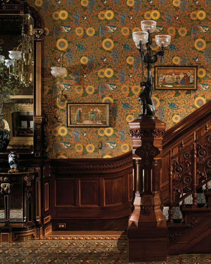 Aesthetic Interior, With Two Plaques Painted And Designed By Henry Stacy  Marks For Minton.