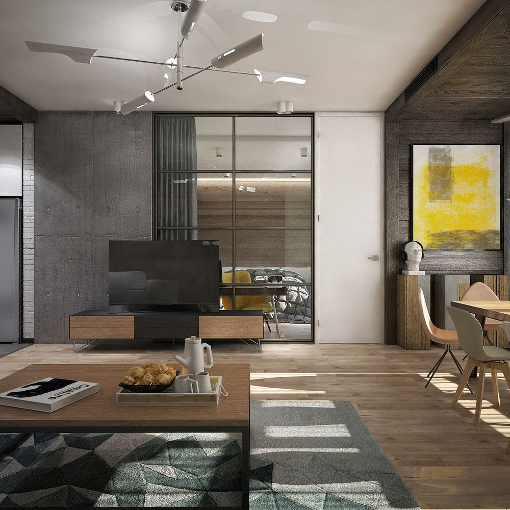 Awesome New York Style Apartment Interior Design With Open Plan Concept