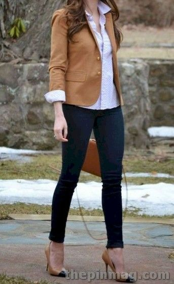 Stylish Fall Women Work Outfits In 2019 #fallworkoutfits