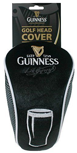 Guinness Golf Head Cover. Detailed Embroidery. Max. 4'' Head Size.