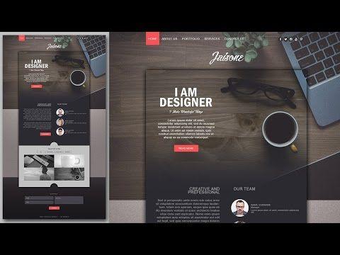 Photoshop Website Design Tutorial Stylish Portfolio With Grain Texture Youtube Website Design Tutorial Portfolio Web Design Website Design